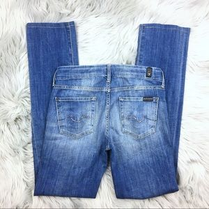 7 For All Mankind Kimmie Straight Leg Jeans Light